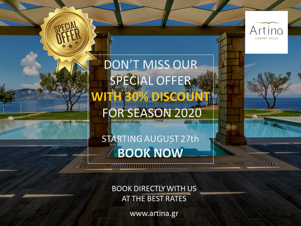 Artina Luxury Villa Zakynthos Greece Last-Minute Deal Special Offer